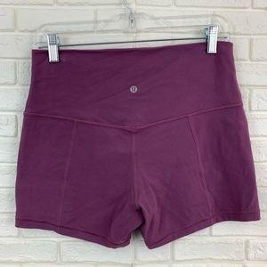 "Lululemon 4"" align shorts high rise plum"